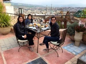 Rooftop breakfast!